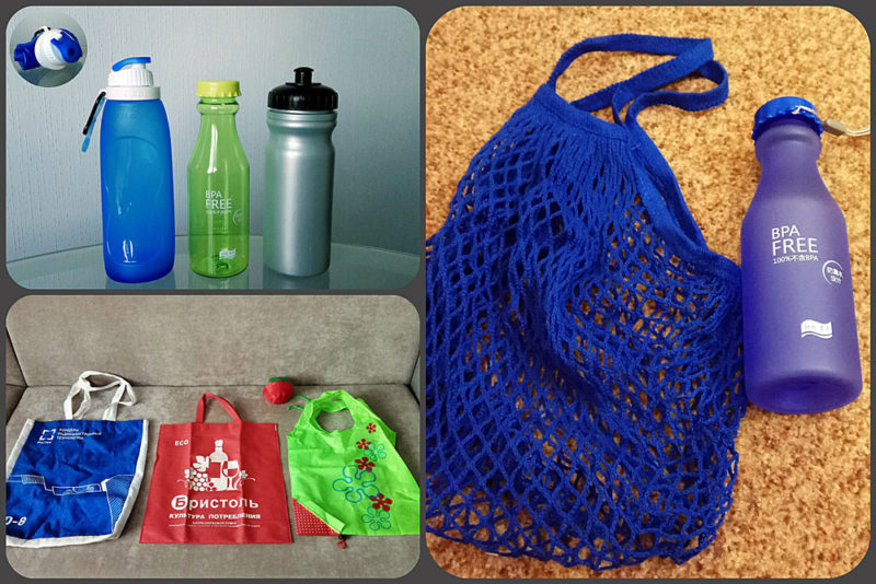 отчет марафона СнижаюСвойЭкослед про экосумки и экобутылки