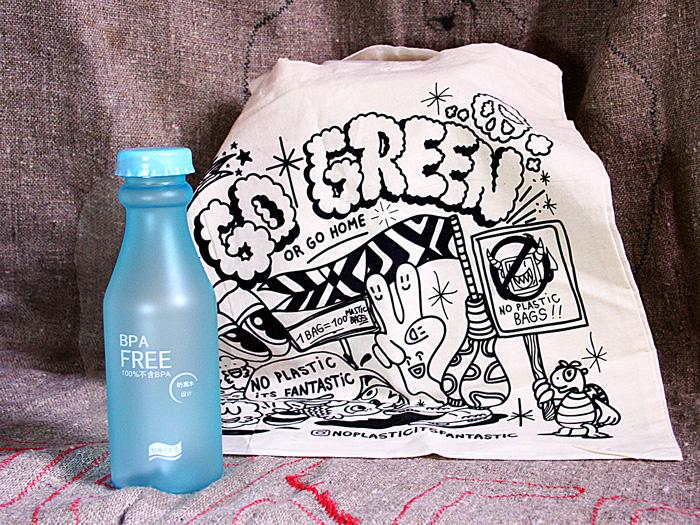 эко сумка и экобутылка